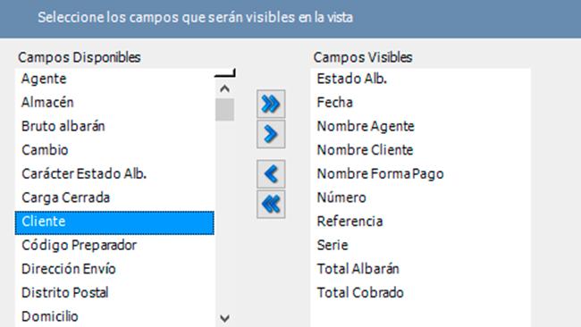 Vistas personalizadas por usuario